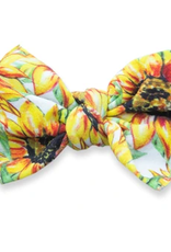 Baby Bling golden sunflowers printed knot