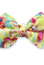Baby Bling bright botanical printed knot