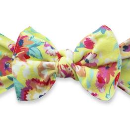 Baby Bling bright botanical printed knot headband