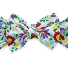 Baby Bling de flores printed knot headband