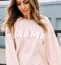 friday + saturday mama corded sweatshirt