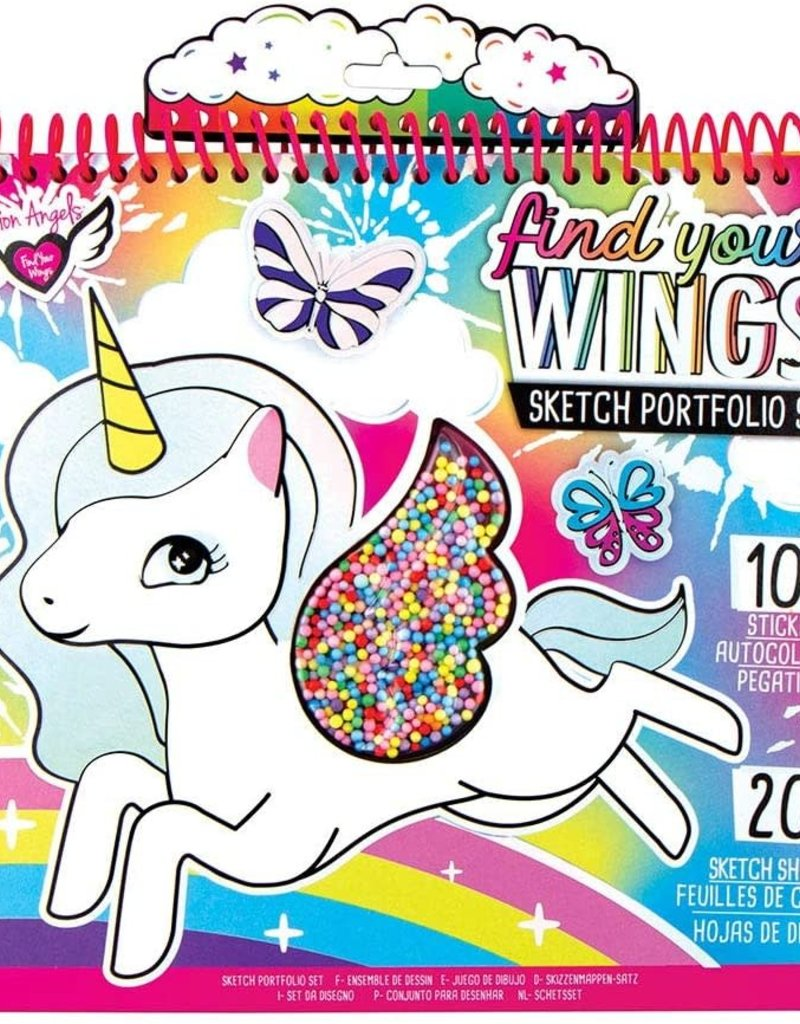 fashion angels unicorn fantasy shaker portfolio
