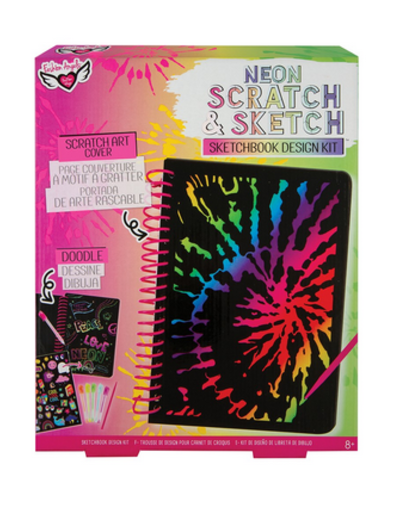 Fashion Angels Neon Scratch Sketch Sketchbook Design Kit Stash Apparel And Gifts