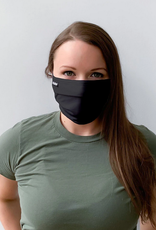 pleated face mask black