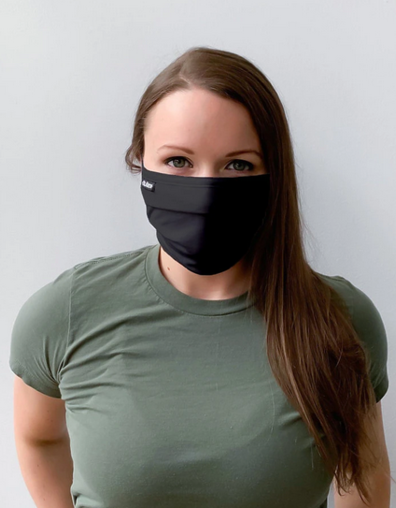 pleated face mask black FINAL SALE