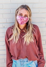 flat tie dye face mask FINAL SALE