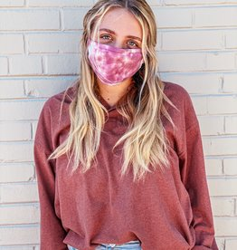 flat tie dye face mask