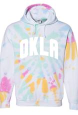 LivyLu multi color burst okla tie dye hoodie