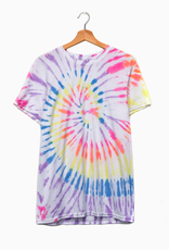 LivyLu multi bright tie dye twist tee