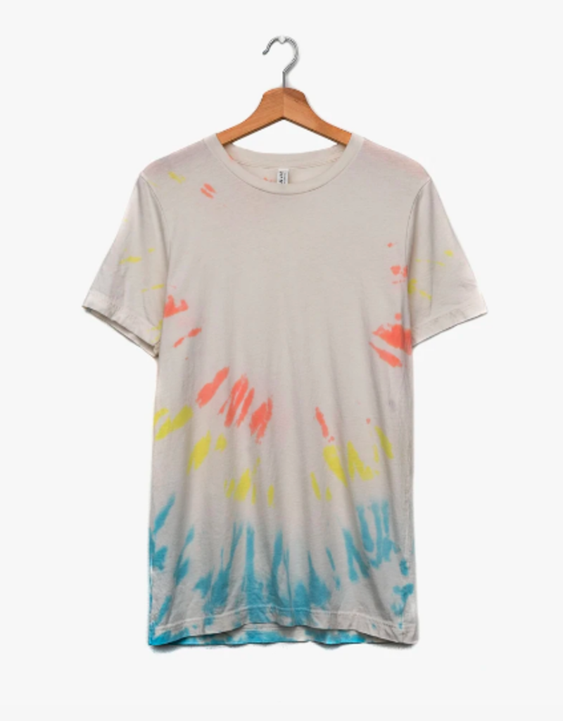 LivyLu multi color clapton dye twist tee