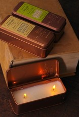 library travel tin candle