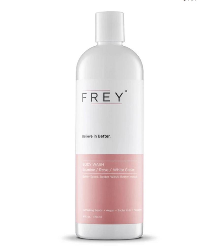frey 16oz body wash jasmine/rose/white cedar