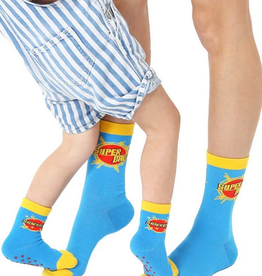 super dad mini+me sock set