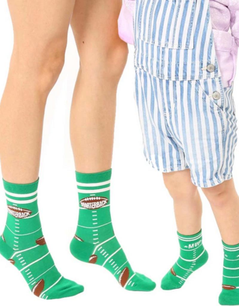 quarterback mini+me sock set