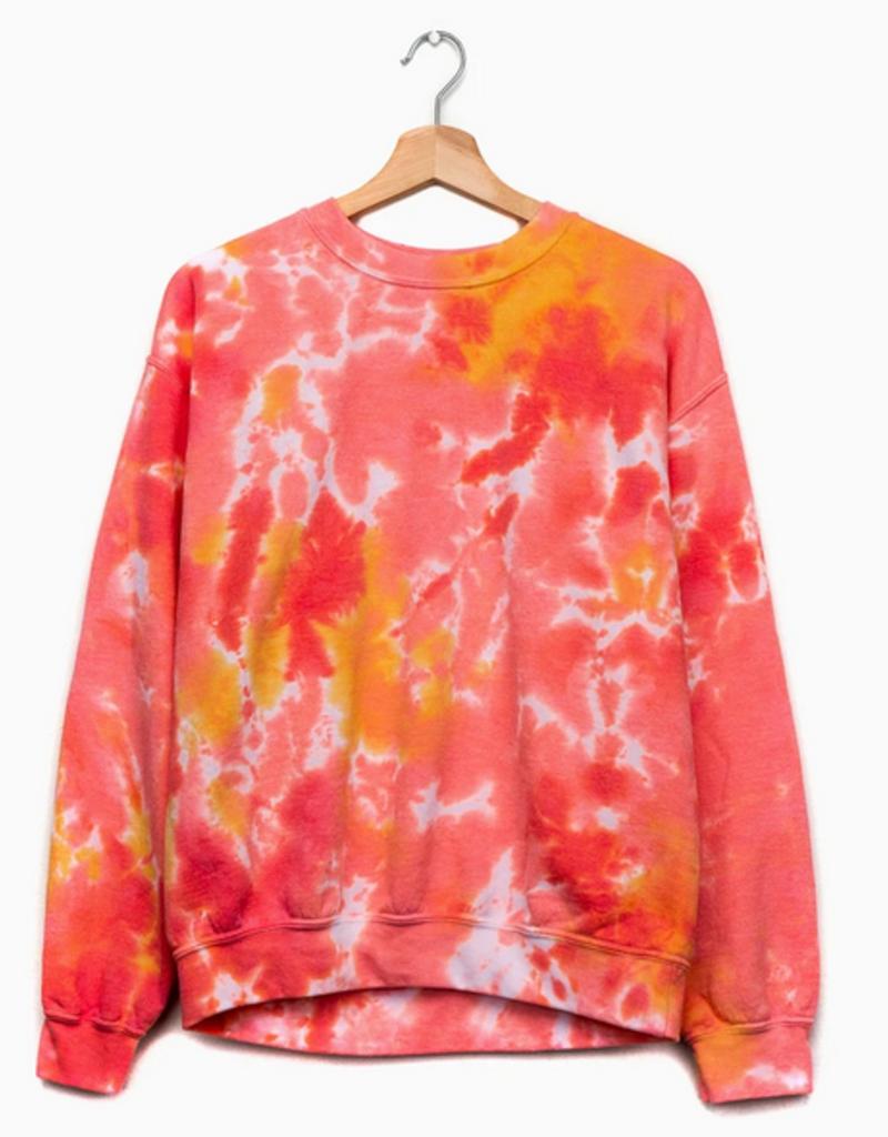 LivyLu sunset cloud dye sweatshirt