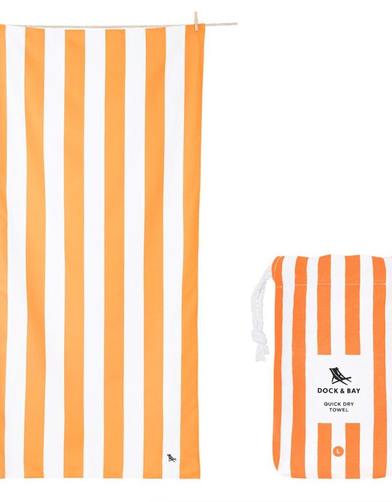 ipanema orange quick dry towel