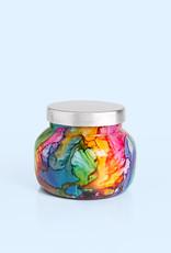 capri blue volcano rainbow watercolor petite jar 8oz