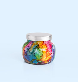 capri blue volcano rainbow watercolor petite jar 8oz