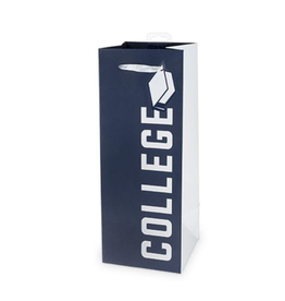 college bottle gift bag