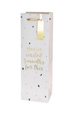 waited 9 months bottle gift bag