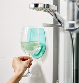 shower wine holder seafoam