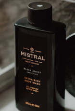 mens black amber body wash 13.5 oz