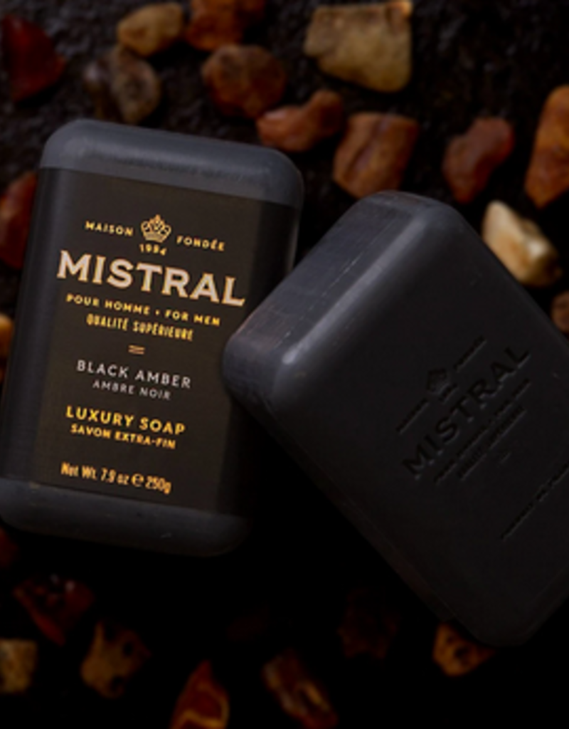 mens black amber bar soap
