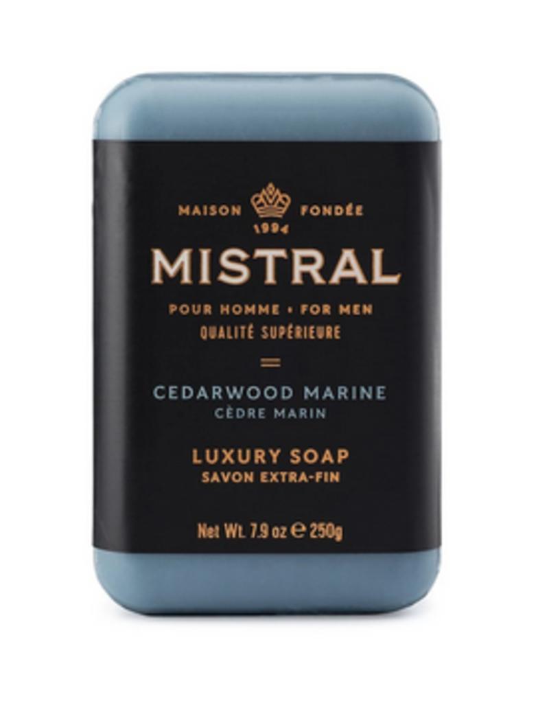 mens cedarwood marine bar soap