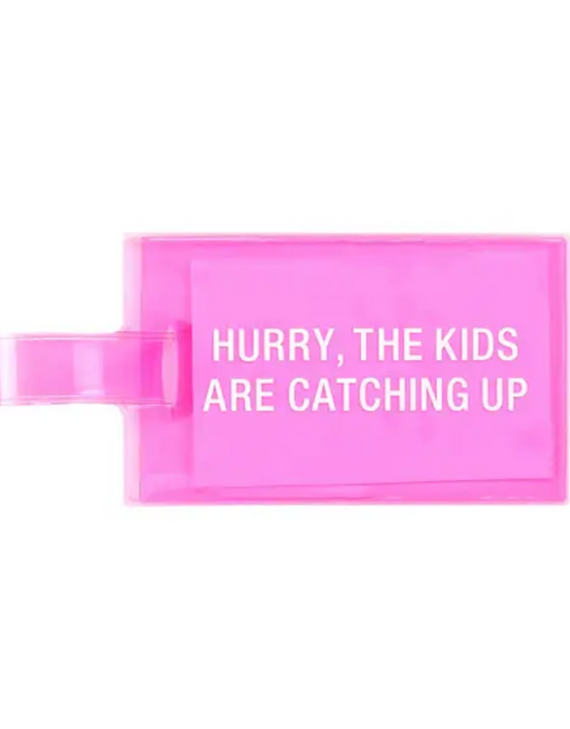 hurry luggage tag