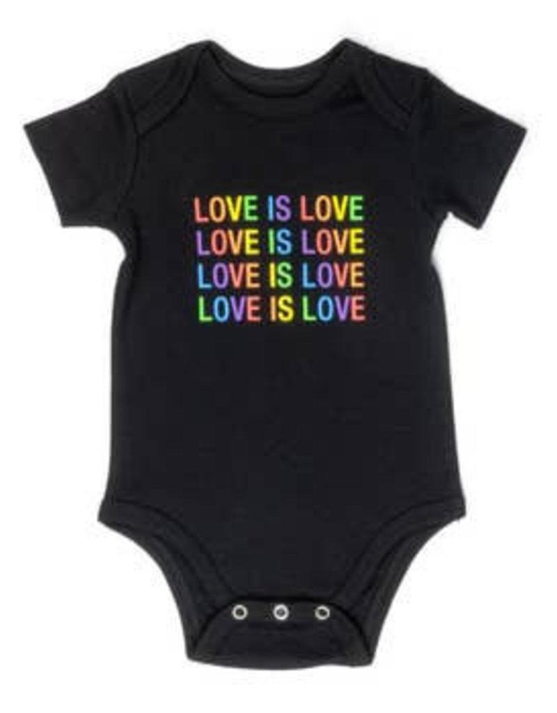 love is love onesie 3-6m