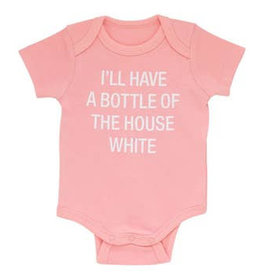 bottle house white onesie 3-6m