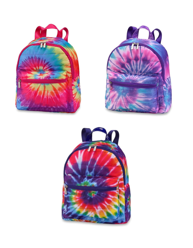 tie dye mini puffer backpack