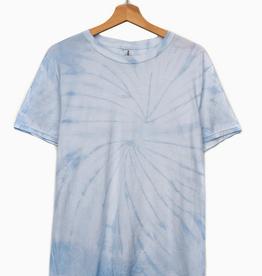 LivyLu pale blue tie dye tee