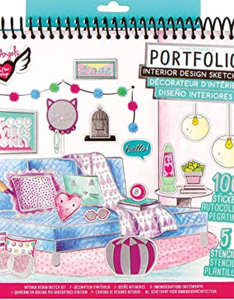 Fashion Angels Interior Design Sketch Portfolio Stash Apparel And Gifts
