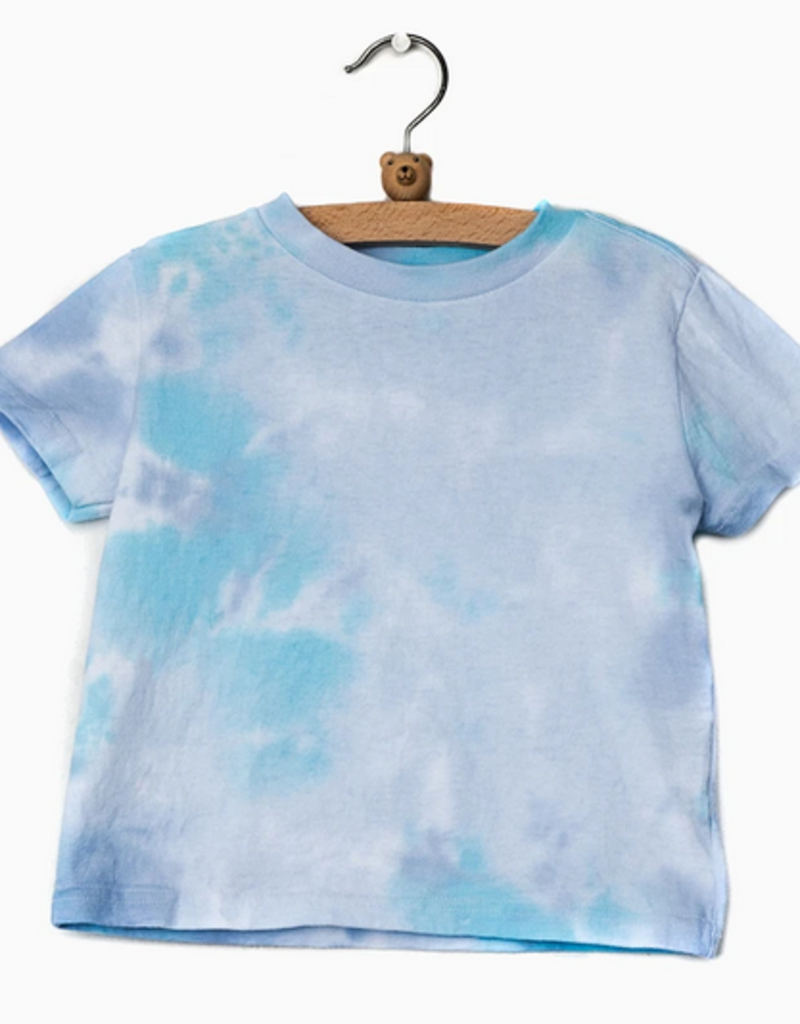 LivyLu kids turquoise dream tie dye tee