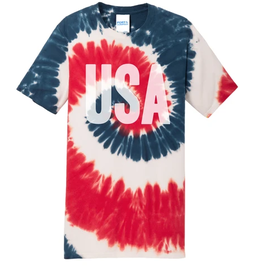 adult tie dye USA tee