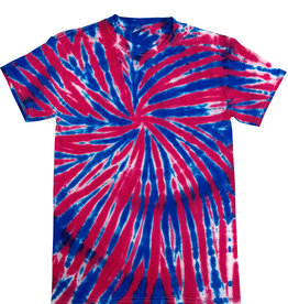 kids red white & blue tie dye tee