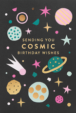 Calypso cards cosmic birthday card