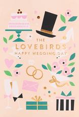Calypso cards lovebirds card