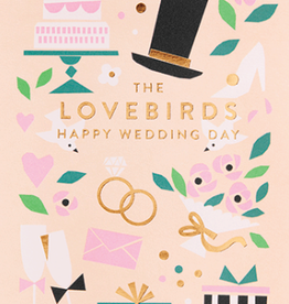 Calypso cards lovebirds card