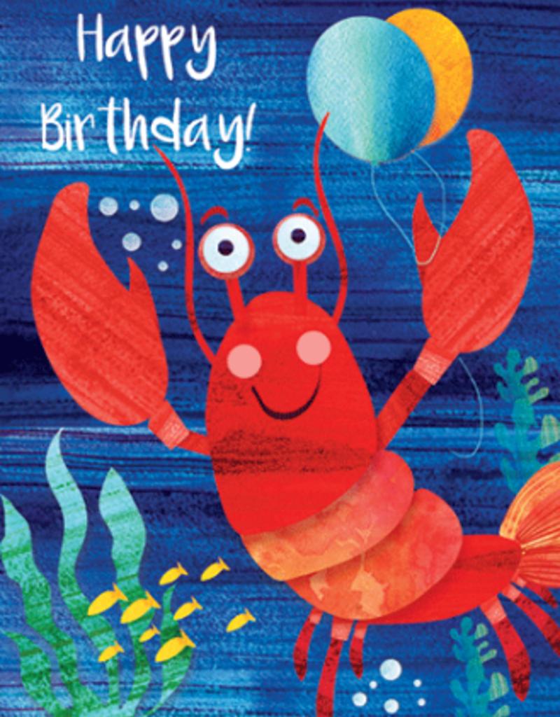 Calypso cards birthday lobster card