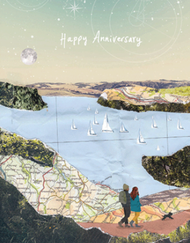 Calypso cards walking anniversary card