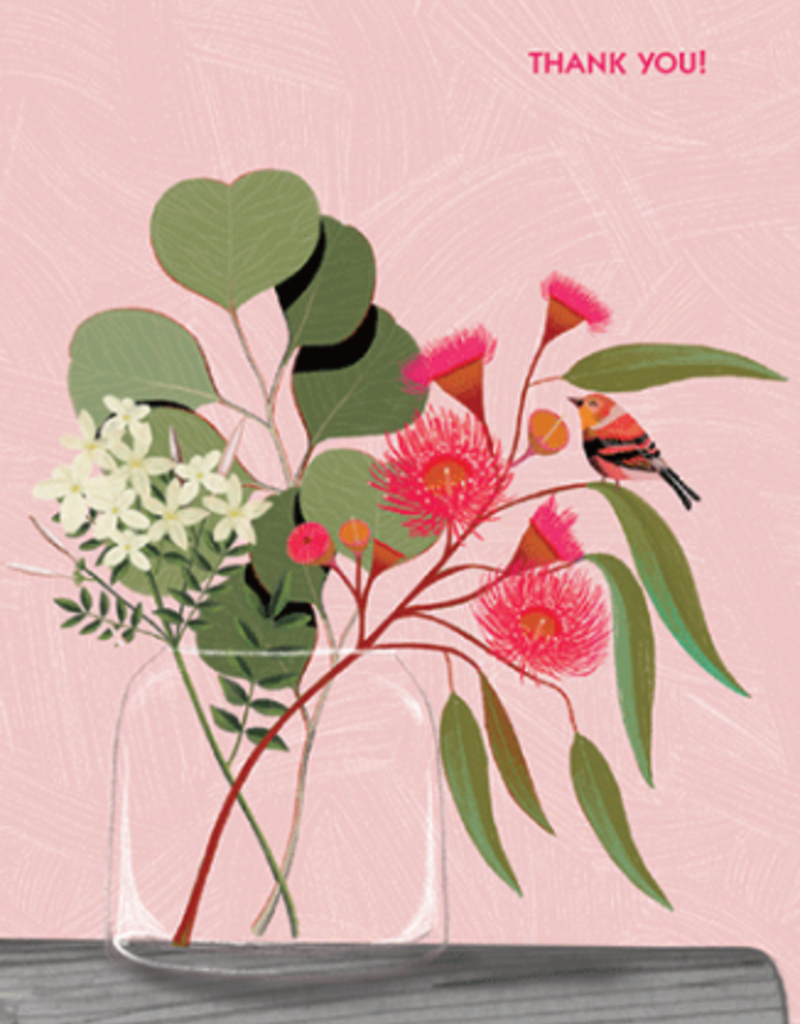 Calypso cards thank you flowers card