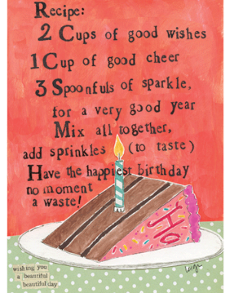 Calypso cards recipe birthday card