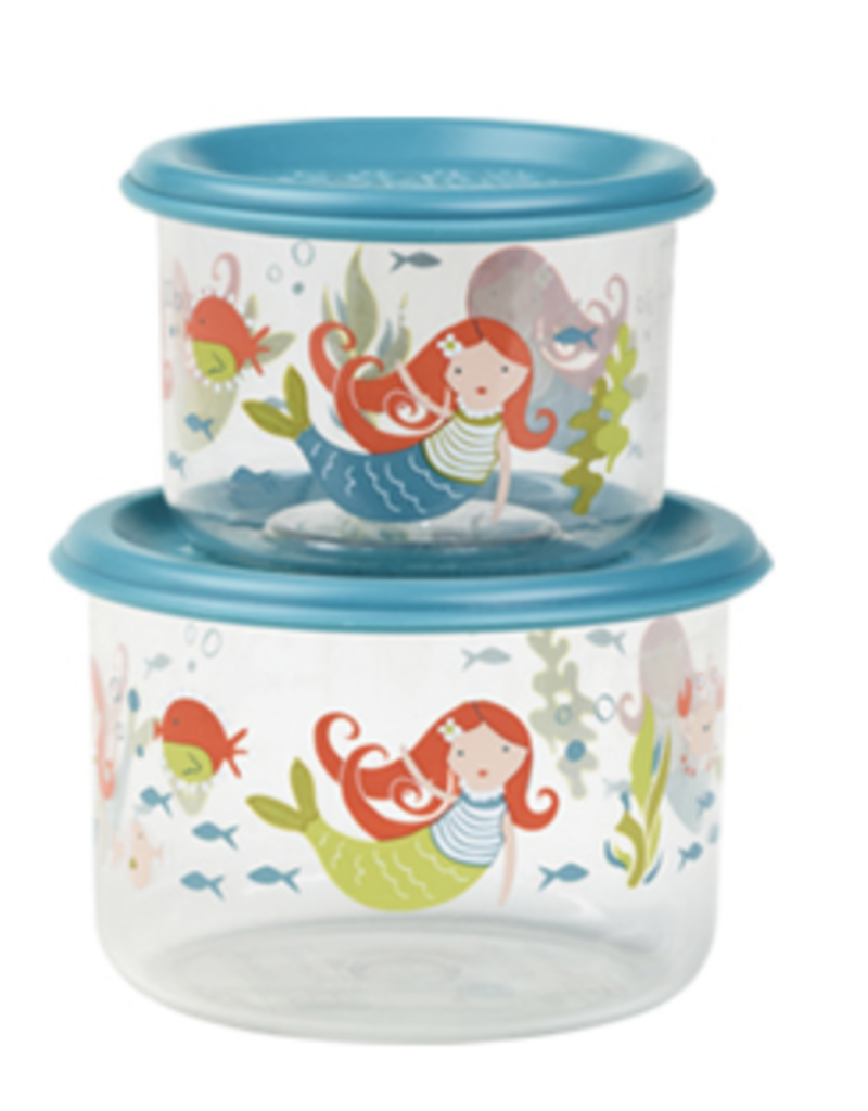 mermaid lunch containers small FINAL SALE