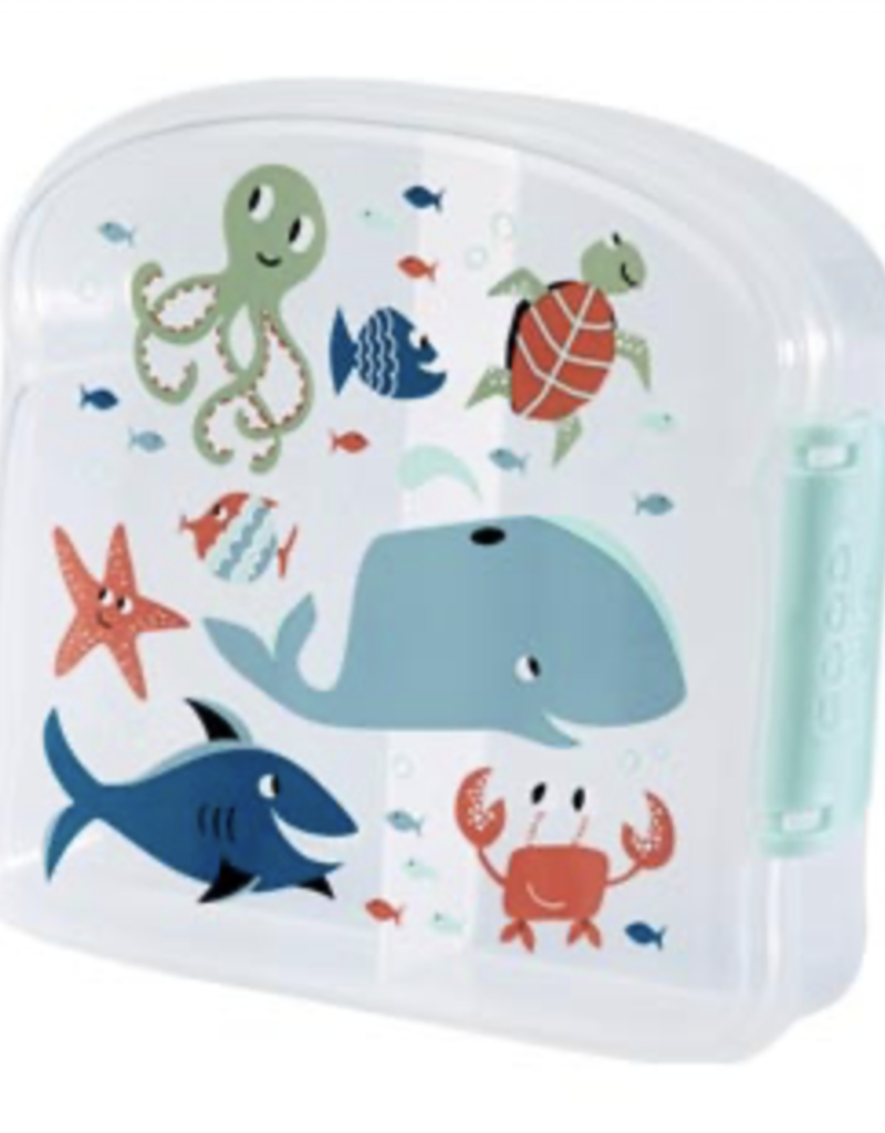ocean lunch sandwich box FINAL SALE