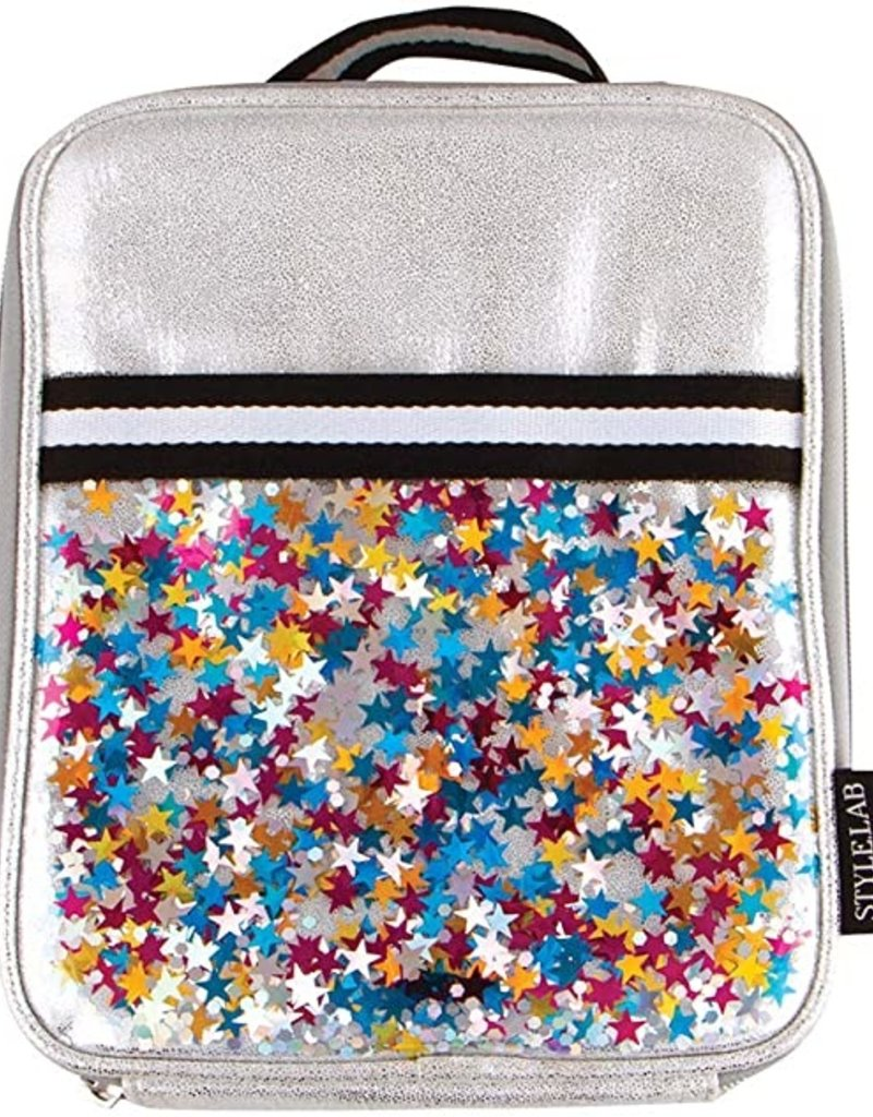 fashion angels silver shimmer star confetti lunch tote