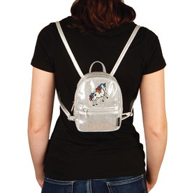 fashion angels silver shimmer mini unicorn backpack