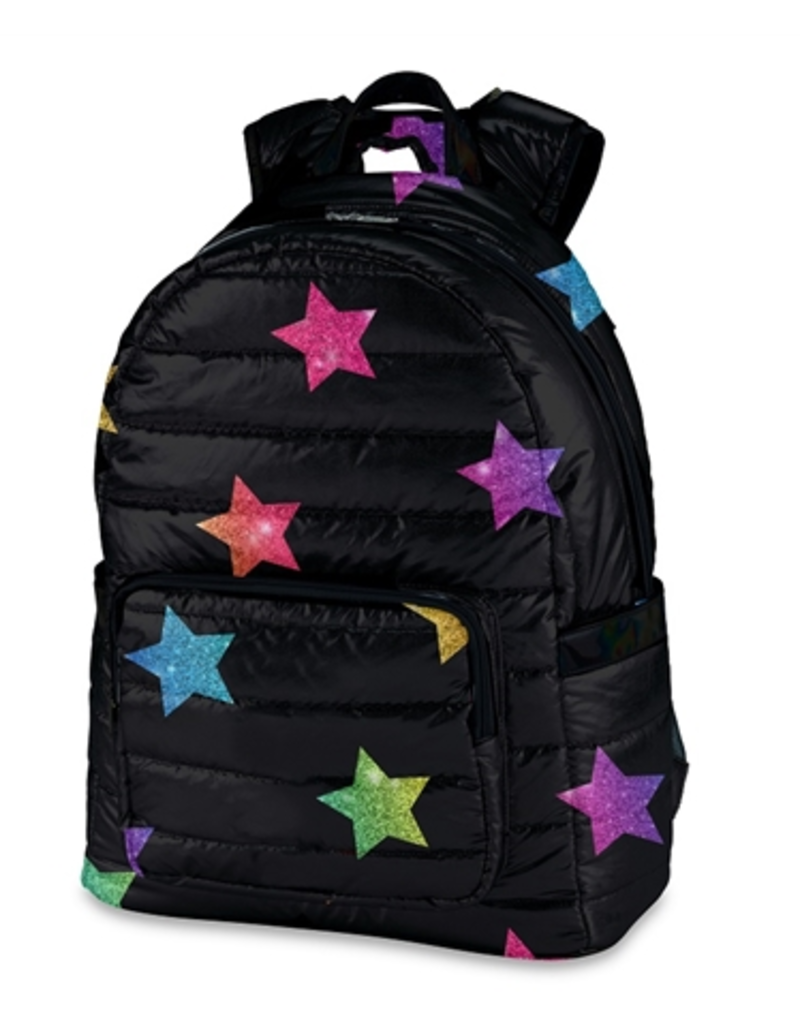 multi star puffer backpack