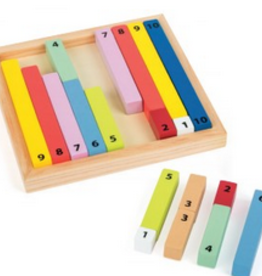 colorful counting sticks